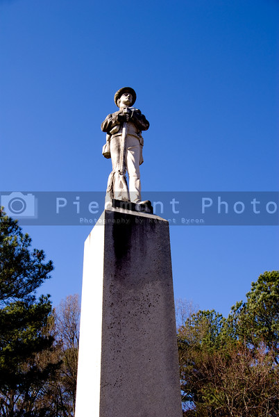 A Confederate Statue from the post civil war era.