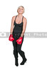 A beautiful young giggling woman wearing a pair of boxing gloves