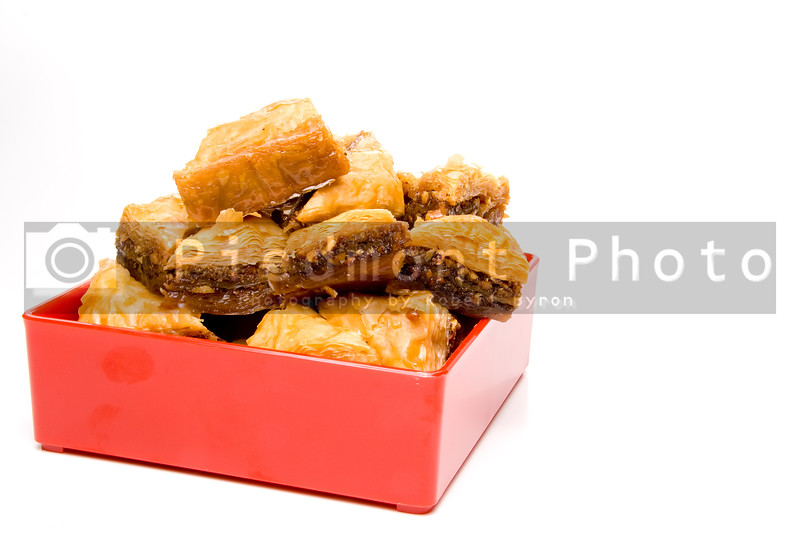 The delicious gourmet dessert known as baklava.