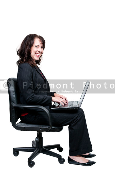 A beautiful young upwardly mobile business woman