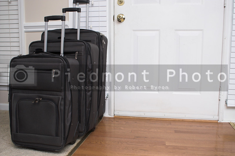 Various bags and suitcases ready for travel or vacation.