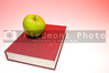 Back to School Concept- An apple on a book.