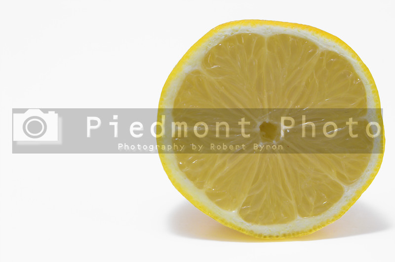 A deliciously sour and fresh yellow lemon.