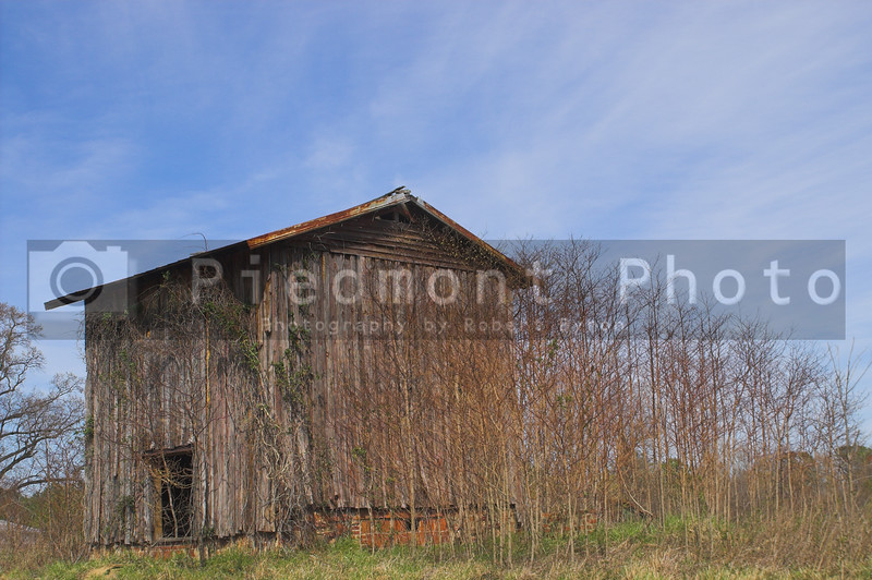 Agriculture History - An old abandoned tobacco barn.