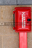 An emergency phone in a call box.