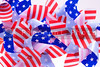 A group of patriotic pinwheels for the 4th of July.