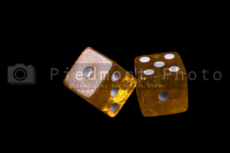 Dice used for leisure games and or gambling.