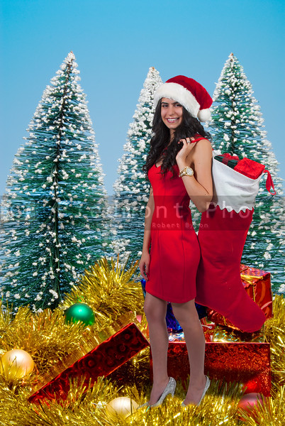Beautiful Woman Holding Gifts