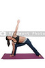 Asian Woman Doing Yoga