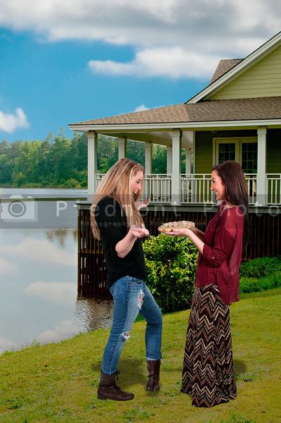 Women with Pie