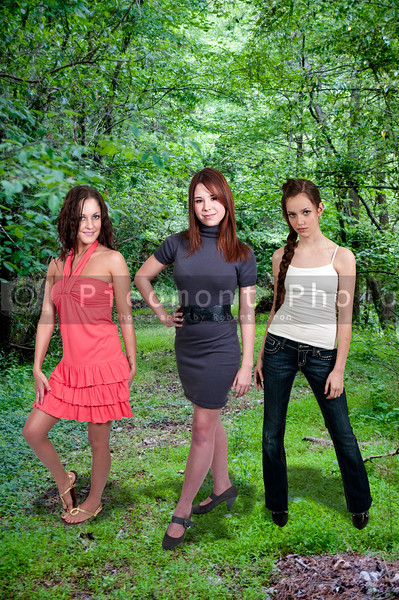 Group of multiple very beautiful young women