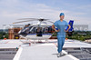 Woman doctor and a mobile flying ambulance better known as a life flight