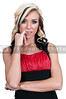 Beautiful young woman making a sexual expression by biting her finger