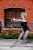 Beautiful woman ballet dancer at a performance