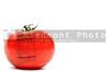 Beautiful red ripe tomato ready to be eaten