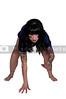 Beautiful young woman football player lineman girl