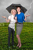 Women Holding Umbrella