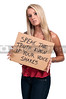 Woman Holding an Inspirational Sign