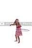 Beautiful little girl with a hula hoop