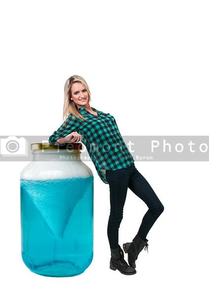 Woman and Tornado Jar