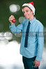Man with Christmas Tree Ornament