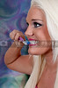 Beautiful woman practicing good oral dental care by brushing her teeth