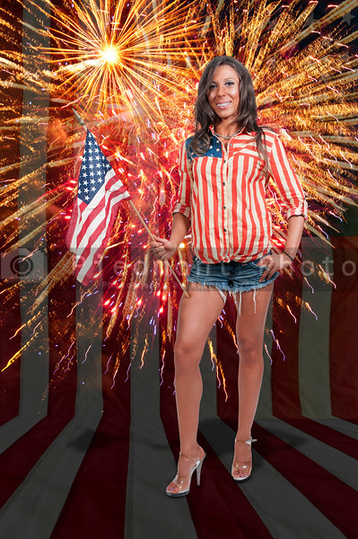 Woman at Fireworks