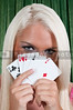A beautiful woman playing cards - lady luck