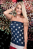 Woman at Fireworks in a Flag