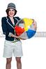 Woman Holding Beachball