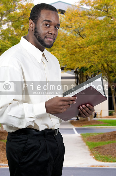 Young handsome black African American man with a lovely smile