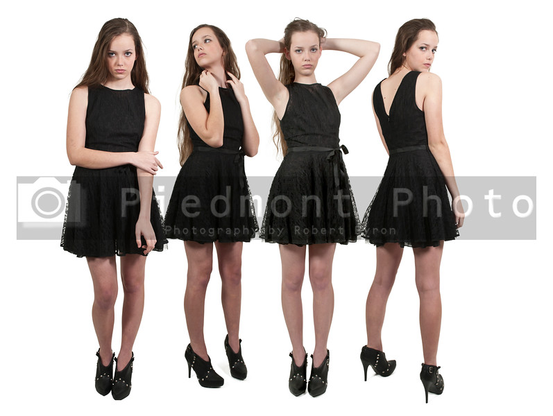 Group of quadruplet young beautiful women teenager girls
