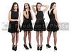 Group of quadruplet young beautiful women teenager girls