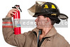 Young attractive male American man firefighter ready for work