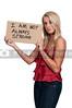 Woman Holding an Inspirational Sign