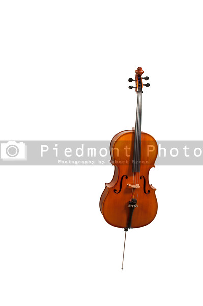 Beautiful wooden musical instrument known as the cello