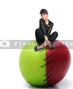 Woman on a Stitched Apple