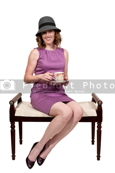 Beautiful woman enjoying a hot cup of tea