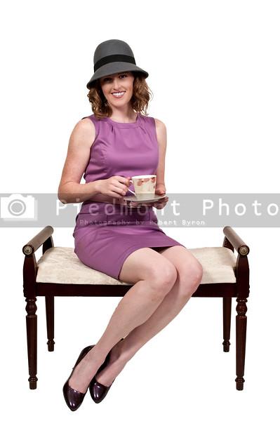 Beautiful woman enjoying a hot cup of tea