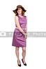 Beautiful young woman in a sleeveless mod dress
