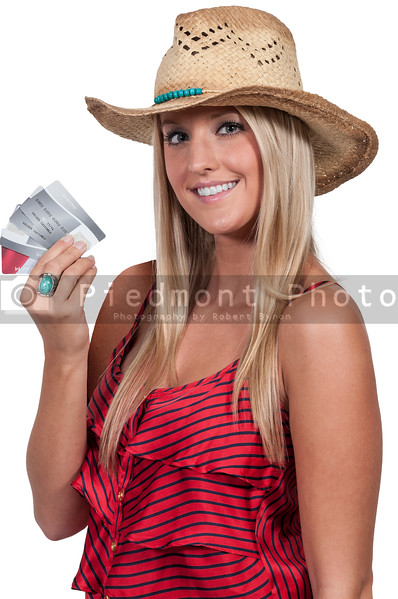 Woman Holding Credit Cards