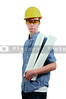 Construction Worker with Blueprints
