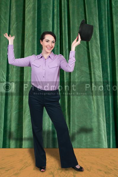 Woman Wearing a Top hat