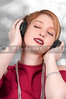 Beautiful Woman listening to Headphones