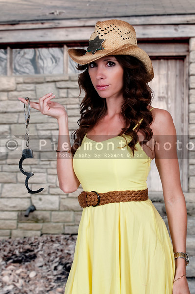 Cowgirl with Handcuffs