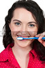 Beautiful Woman Brushing Teeth