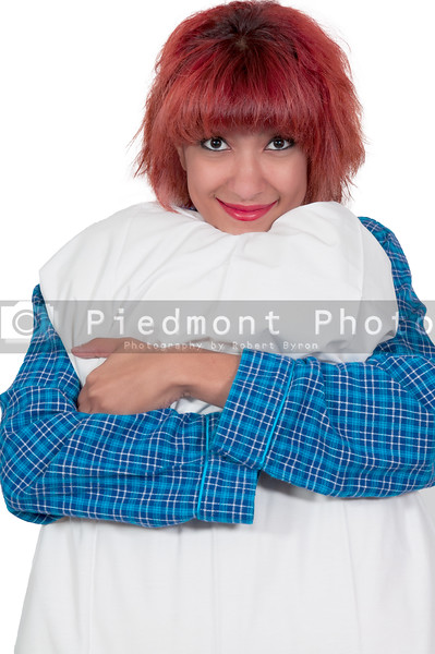 Beautiful Woman with a pillow