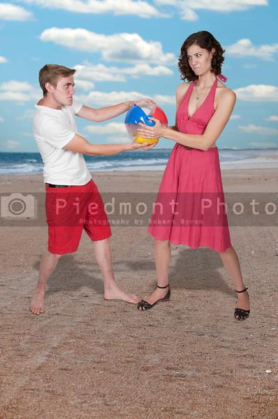 Couple with Beach Ball