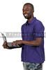 Black Man Using Computer