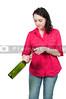 Woman Opening Wine